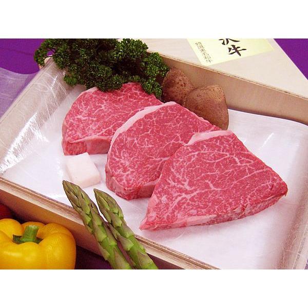 最高級熟成米沢牛 A5等級メス シャトーブリアン ステーキ用 480g(120g×4枚) 桐箱入