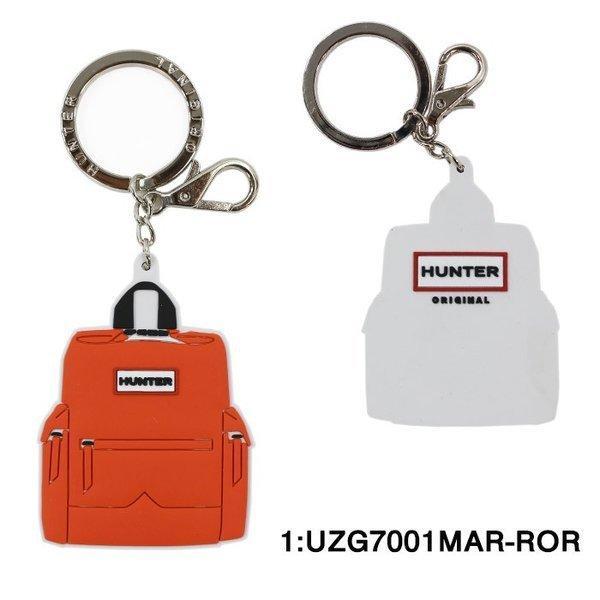 HUNTERキーホルダーUZG7001MAR-RORハンターリュックデザインキーチャームオレンジレッドkeyリングブランドag-