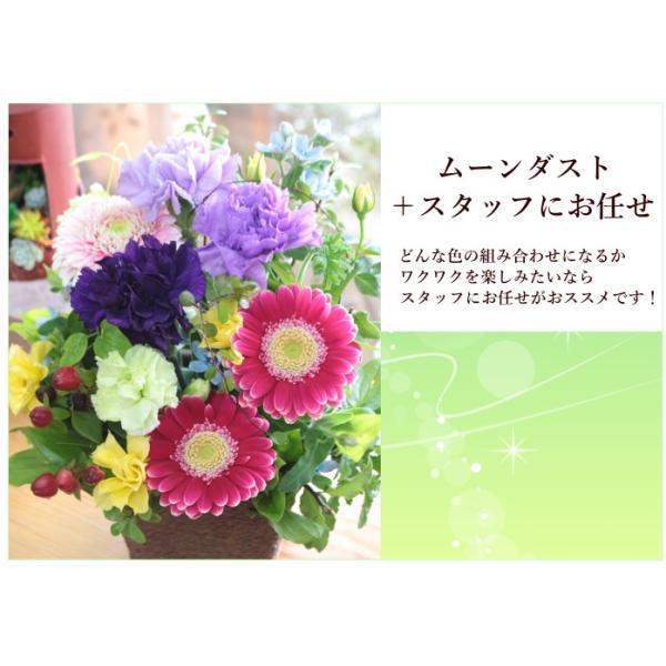 敬老の日 フラワーアレンジ 紫カーネーション プレゼント  誕生日 お祝い お礼  送料無料 クール便「お花おまかせムーンダストアレンジ」|agreable1999|05