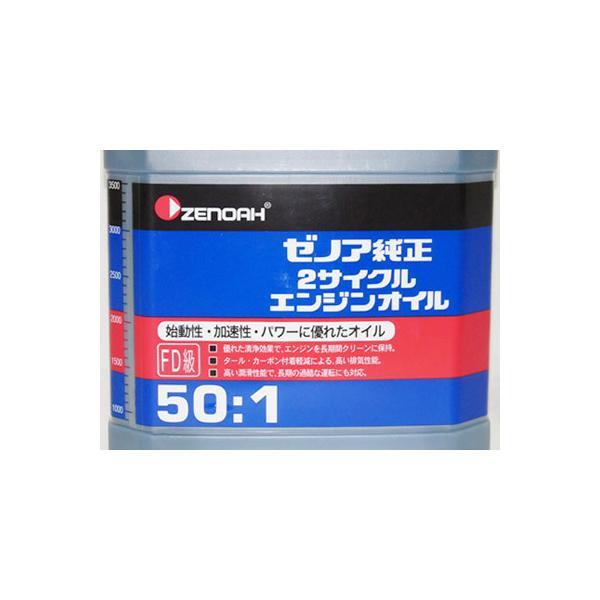 ゼノア 2サイクルエンジンオイル(50:1) 4L 6本入り(1ケース)(混合燃料用オイル)|agriz|02