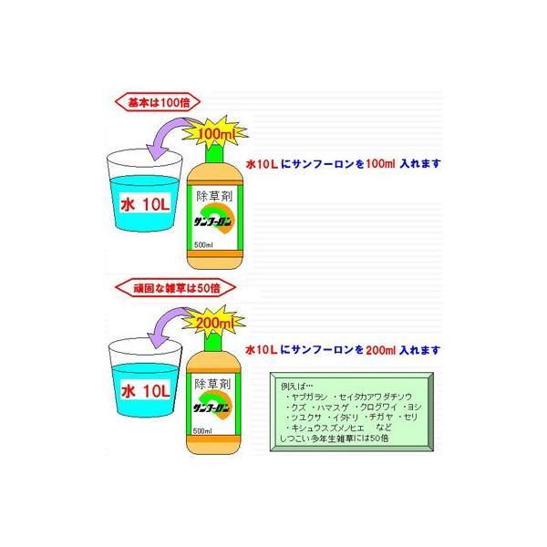 (除草剤) サンフーロン 5L (4本入) + サンフーロン 500ml 1本おまけ付き! (農薬) 旧ラウンドアップのジェネリック品|agriz|02