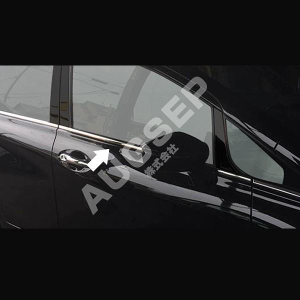 au2644 カスタムパーツ 6pcs ウィンドウモール ノート ウィンドウトリム 2016 サイドモール ステンレス製 サイドガーニッシュ 外装パーツ 日産 E12後期