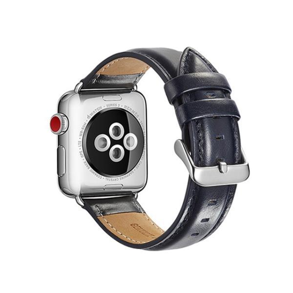 Apple Watch バンド 本革 レザー 44mm 42mm 40mm 38mm Series 4/3/2/1 交換 ベルト