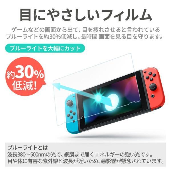 【お得なセット ケース&フィルム】 送料無料 Nintendo Switch キャリングケース 液晶保護シート 耐衝撃  ブルーライトカット AIFS-SWKC|ai-en|05