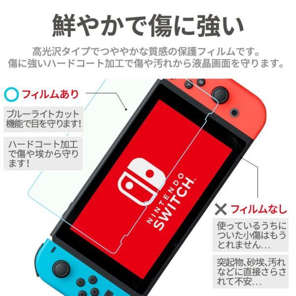 【お得なセット ケース&フィルム】 送料無料 Nintendo Switch キャリングケース 液晶保護シート 耐衝撃  ブルーライトカット AIFS-SWKC|ai-en|06