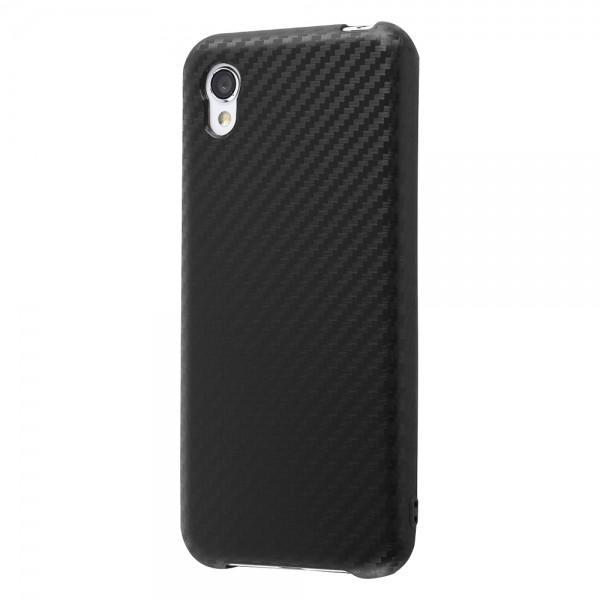 AQUOS sense2 Android One S5 TPUソフトケース 耐衝撃Light Carbon カーボンブラック RT-AQSE2CP3/CB RT-AQSE2CP3-CB