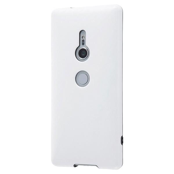 Xperia XZ2 TPUソフトケース 耐衝撃 Light Carbon カーボンホワイト かわいい おしゃれ RT-RXZ2CP3/CW レイアウト RT-RXZ2CP3-CW