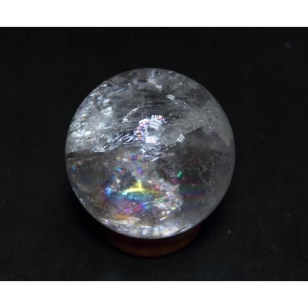 虹入り 水晶丸玉14