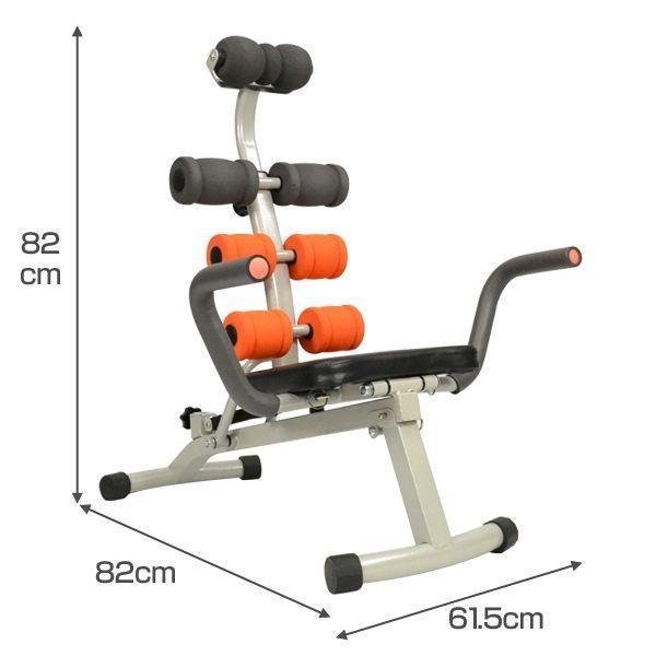腹筋運動マシン アブシェイプマシン 腹筋マシーン 腹筋補助 腕立 シットアップベンチ マルチジム 腹筋 筋トレ ベンチ マシン ###アブベンチAND-619###|ai-mshop|03