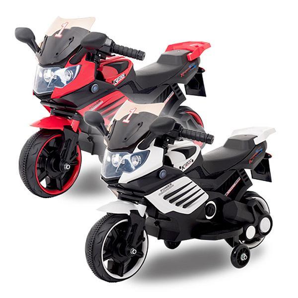 電動乗用バイク 充電式 乗用玩具 レーシングバイク 子供用 三輪車 キッズバイク 補助輪付き クリスマス ###バイクCBK-061###
