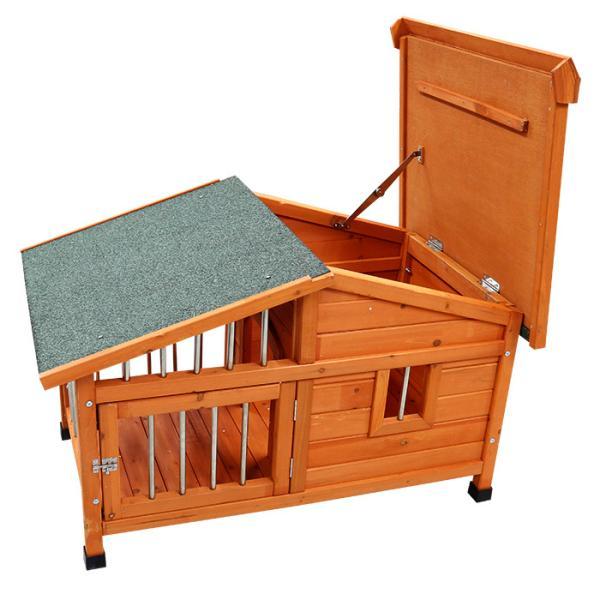 サークル犬舎 犬小屋 サークル 犬舎 屋外ハウス 外飼い お庭用 木製 ドッグパーク 中型犬用 小型犬用 98×78×72cm ###犬小屋DHDX007###