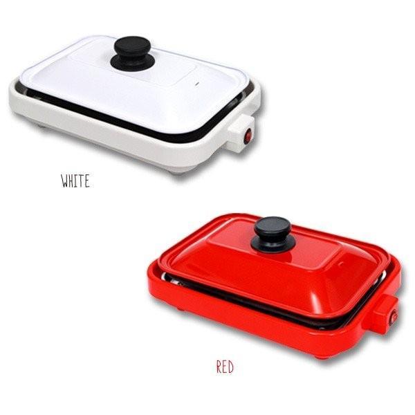 フタ付き ホットプレート 1台2役 プレート2枚セット クッキングホットプレート たこ焼き 平面 2種類のプレート付 おしゃれ 調理家電 ###プレートHY-6105###|ai-mshop|05