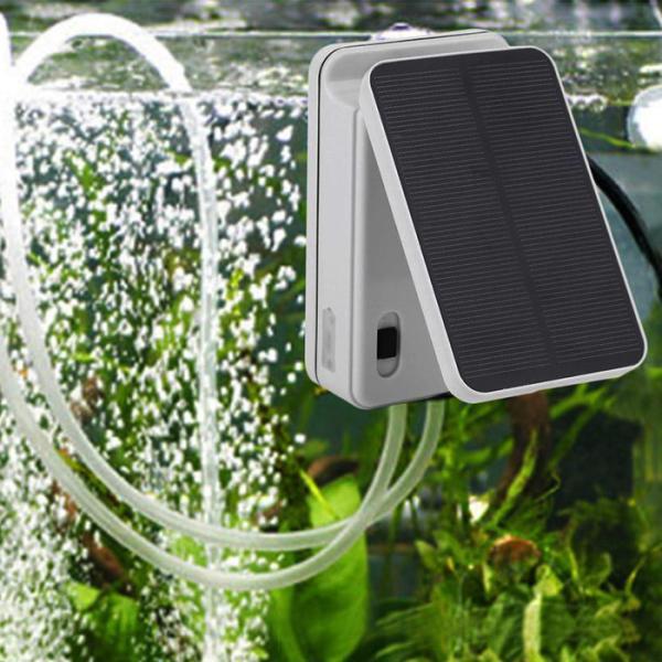 ソーラー充電式 エアポンプ エアーポンプ 空気ポンプ 生活防水 電動 蓄電 酸素 ポンプ 太陽光充電 小型 静音 エアレーション ###ポンプBAN-AP002###
