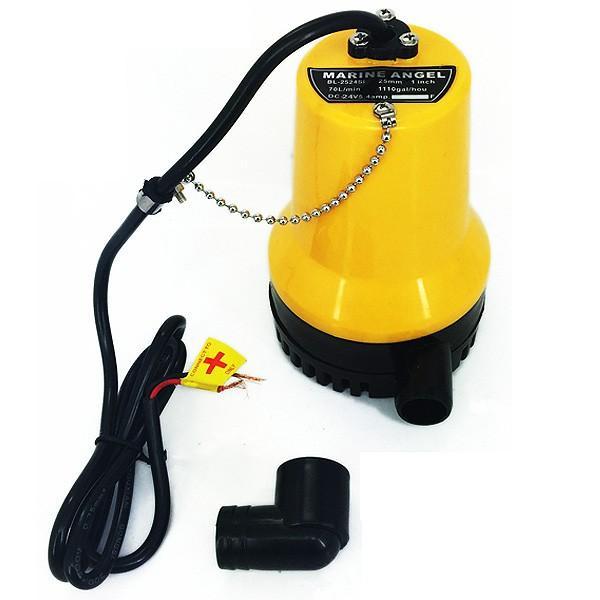 ビルジポンプ 水中ポンプ 海水対応 小型 軽量 12V 24V 70リットル 25mm径 給排水 電動 ビルジ排水 ハッチ給排水 ###水中ポンプBL-25###