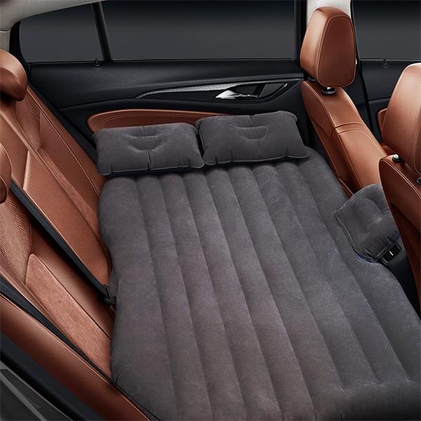車中泊 マット 車用ベッド エアーベッド 車載 エアーマット 後部座席マット 枕付き ベッドキット アウトドア 電動ポンプ付き ###車用エアマットCQQC###