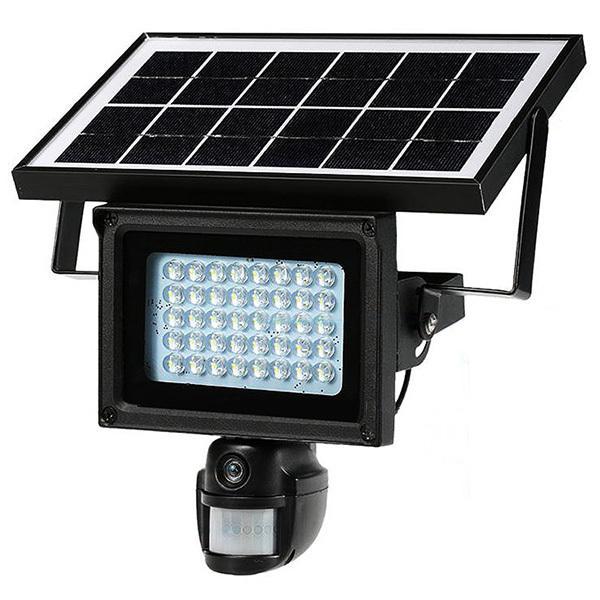 LED センサーライト 防犯カメラ ソーラーライト 人感センサー付 LEDライト 録画機能 カメラ付センサーライト 投光器 屋外 照明 ###センサーライトDVR###