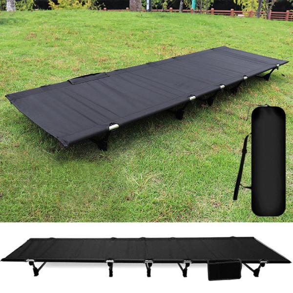 コット アウトドアベッド キャンピングベッド ローコット ベッド ベンチ 簡易ベッド コンパクト 軽量 耐荷重150kg 折りたたみ 折り畳み ###チェアZDC-BK###