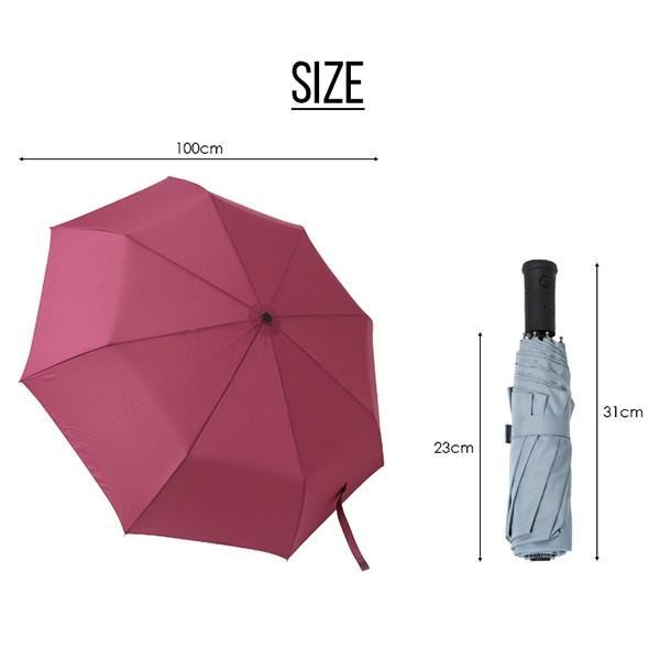 折りたたみ傘【総合ランキング1位受賞】折り畳み傘 自動開閉 高強度グラスファイバー LED搭載 雨具 撥水 丈夫 対強風 おしゃれ ###折畳傘TX1401### ai-mshop 10