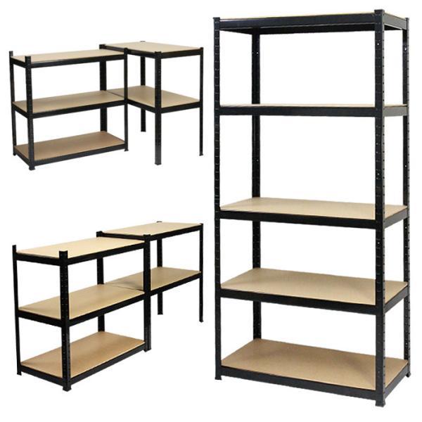 RoomClip商品情報 - 5段ラック スチール棚 スチールラック 収納棚 収納ラック 棚 収納 物置 オープンシェルフ スチール製 耐荷重150kg###ラックKTC018###