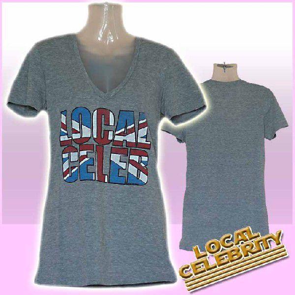 ローカルセレブリティ Tシャツ レディース 半袖 UK/グレイ LOCAL CELEBRITY W205-LOC2202 Heather Gray 激安 1004|ai-na