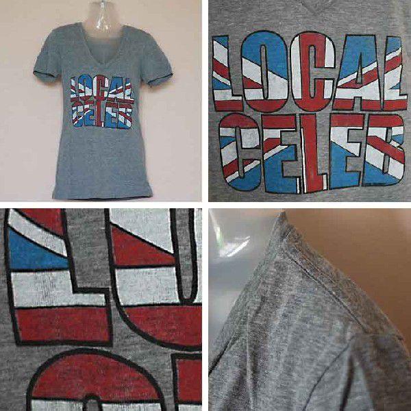 ローカルセレブリティ Tシャツ レディース 半袖 UK/グレイ LOCAL CELEBRITY W205-LOC2202 Heather Gray 激安 1004|ai-na|02