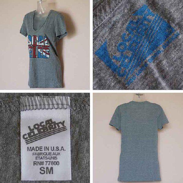 ローカルセレブリティ Tシャツ レディース 半袖 UK/グレイ LOCAL CELEBRITY W205-LOC2202 Heather Gray 激安 1004|ai-na|03