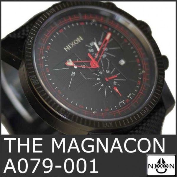 ニクソン 腕時計 メンズ マグナコン 黒 ブラック アナログ THE MAGNACON A079-001 人気 防水 ダイビング NIXSON 9064|ai-na