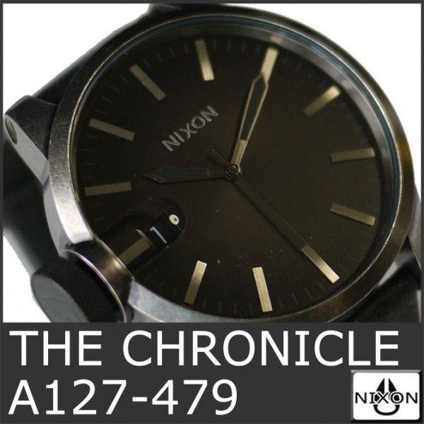 ニクソン 腕時計 メンズ クロニクル 黒 ブラック アナログ THE CHRONICLE ANTIQUE A127-479 人気 防水 NIXSON 9071|ai-na