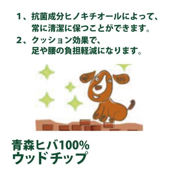 天然青森ヒバ100% ウッドチップ50L×2袋 約1帖×高さ3〜5cm 消臭 除菌 防虫 ドッグラン 園芸用としても最適! 送料無料|aicarrot|09