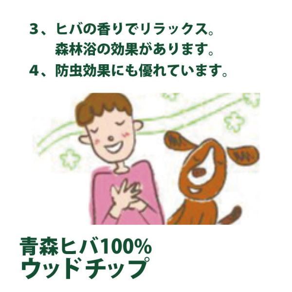 天然青森ヒバ100% ウッドチップ50L×2袋 約1帖×高さ3〜5cm 消臭 除菌 防虫 ドッグラン 園芸用としても最適!|aicarrot|10