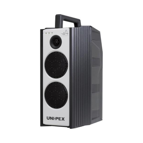 防滴形800MHz帯ポータブルアンプCD付定格40W(WA-872CD)+800MHz帯ワイヤレスマイク(WM-8400)ダイバシティ方式 ユニペックス