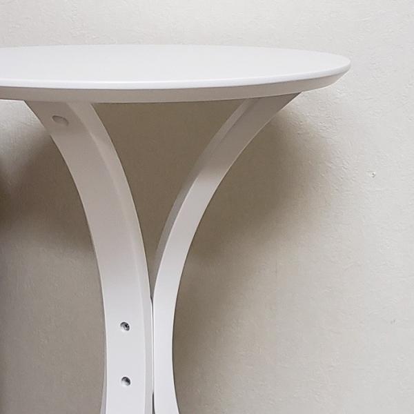 サイドテーブル ホワイト色(木目ほぼ無し) 何個でも送料合計500円♪(北海道・東北・九州・沖縄・離島を除く) お客様による組立が必要です。 木製 白色 CF-913WH|aidas-satisfaction|05