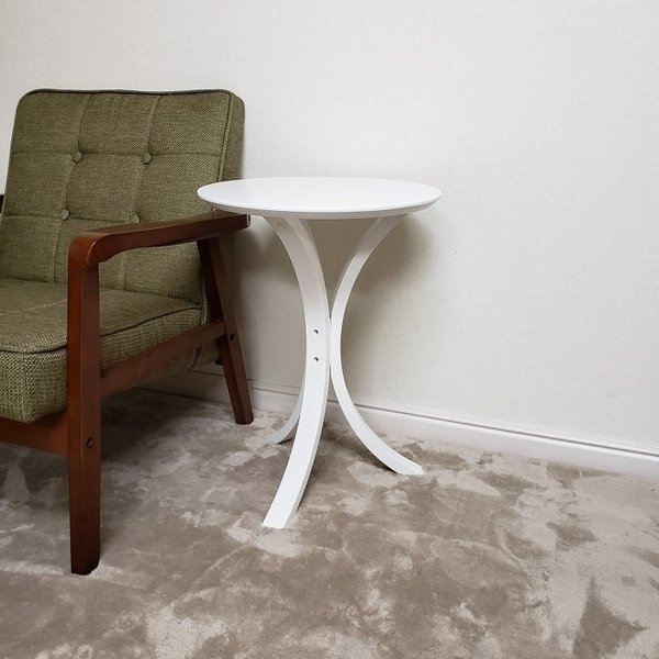 サイドテーブル ホワイト色(木目ほぼ無し) 何個でも送料合計500円♪(北海道・東北・九州・沖縄・離島を除く) お客様による組立が必要です。 木製 白色 CF-913WH|aidas-satisfaction|06