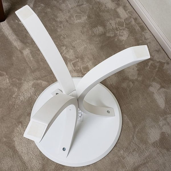 サイドテーブル ホワイト色(木目ほぼ無し) 何個でも送料合計500円♪(北海道・東北・九州・沖縄・離島を除く) お客様による組立が必要です。 木製 白色 CF-913WH|aidas-satisfaction|07