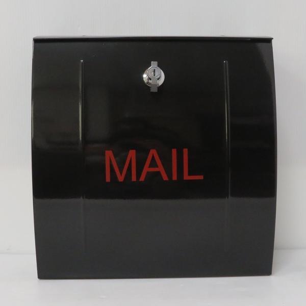 ポスト 郵便ポスト 郵便受け 大型メールボックス壁掛けブラック黒色ステンレスポストm023[訳あり]|aihome|02