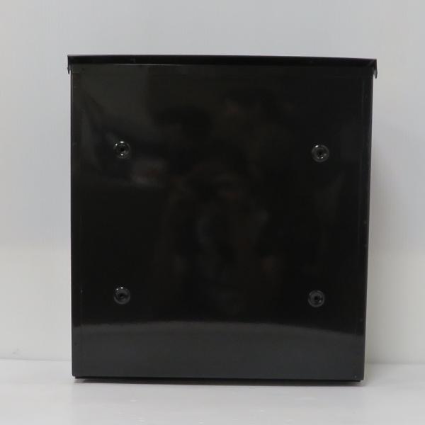 ポスト 郵便ポスト 郵便受け 大型メールボックス壁掛けブラック黒色ステンレスポストm023[訳あり]|aihome|05