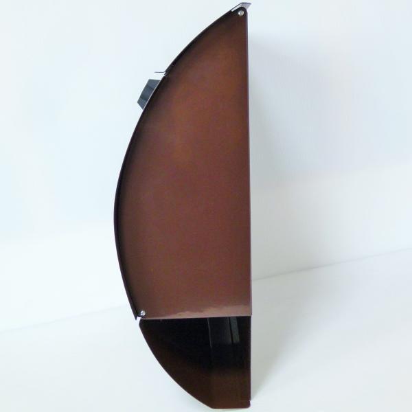 ポスト 郵便ポスト 郵便受け 大型メールボックス壁掛けブラウン色 ステンレスポストm032[訳あり]|aihome|04