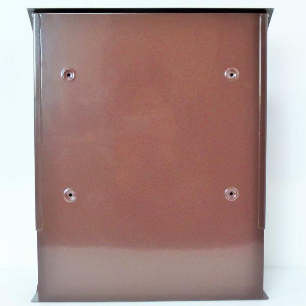 ポスト 郵便ポスト 郵便受け 大型メールボックス壁掛けブラウン色 ステンレスポストm032[訳あり]|aihome|05