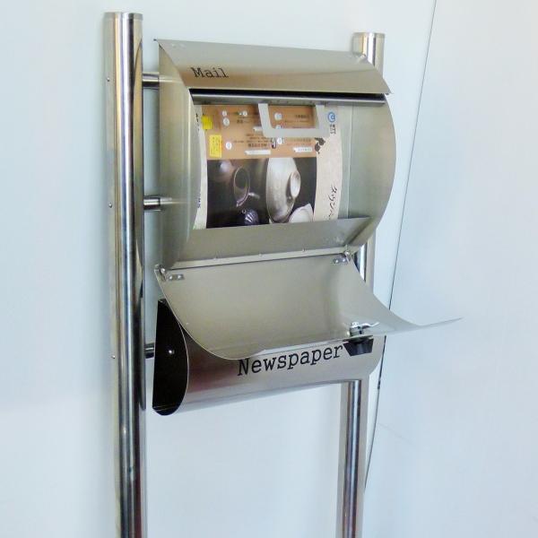 郵便ポスト郵便受けメールボックス大型メール便スタンド型シルバーステンレス色プレミアムステンレスpm062s|aihome|04