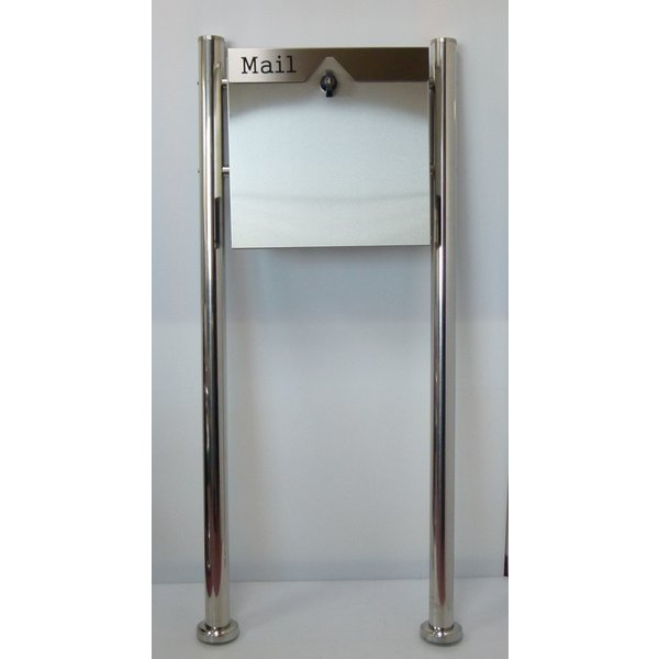 郵便ポスト郵便受けメールボックス大型メール便スタンド型シルバーステンレス色ステンレスポストm151s|aihome