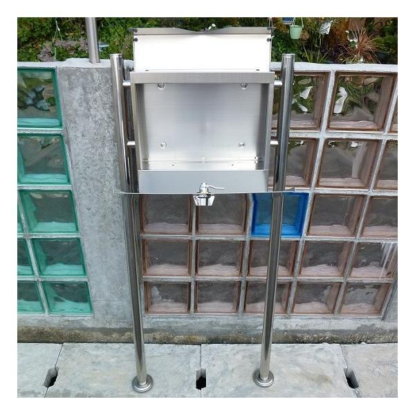 郵便ポスト郵便受けメールボックス大型メール便スタンド型シルバーステンレス色ステンレスポストm151s|aihome|06