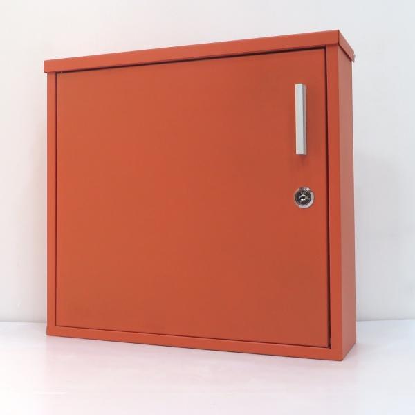 郵便ポスト郵便受けおしゃれ北欧大型メールボックス 壁掛け鍵付マグネット付オレンジ色ポストpm355-1