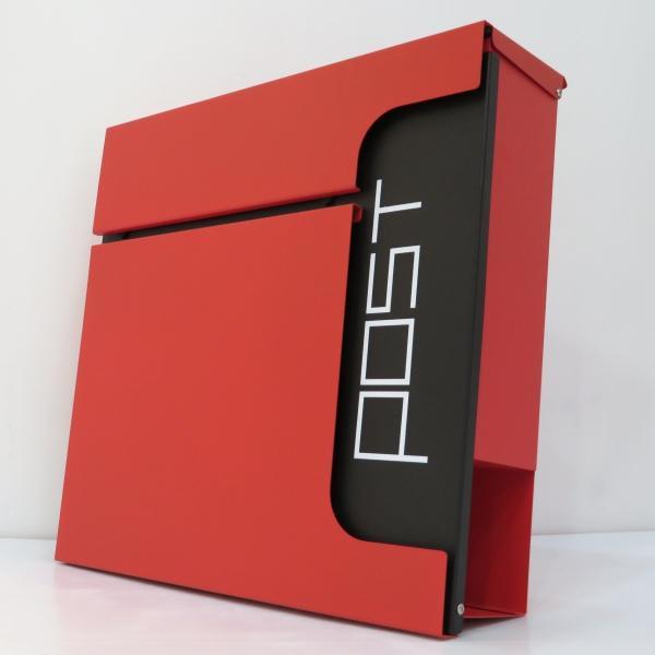 夏セール8月31日まで 郵便ポスト郵便受けおしゃれかわいい人気北欧大型メールボックス 壁掛け鍵付きマグネット付き レッド 赤色ポストpm584