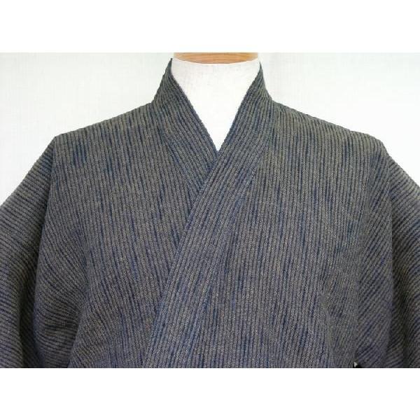 作務衣【厚地】藍茶二重織スラブ刺子|aiira-ensyu|04