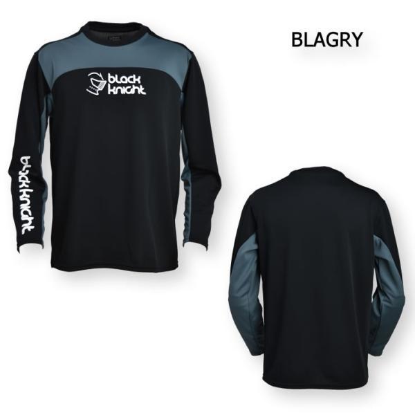 bfbb7c2fd217 ... 2017最新作 ラックナイト BLACK KNIGHT バドミントン スカッシュ ユニ ウェア 長袖プラクティスシャツ Tシャツ