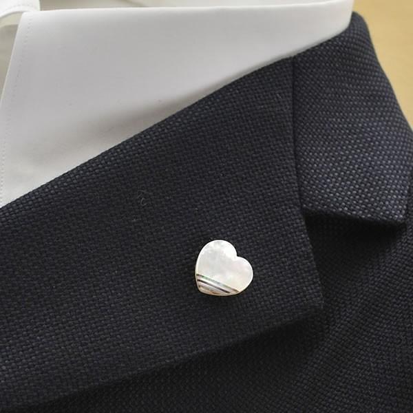 ブートニエール ラペルピン 新品 メンズジャケットを粋に決める 白蝶貝×黒蝶貝 ケース無し BN-056N|aimagain|03