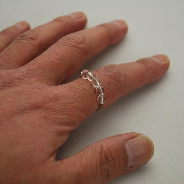 オリジナル クリスタルリング ファイテン アスリートクリスタルネックレス 5mm玉使用 Phiten 水晶|aimagain|02
