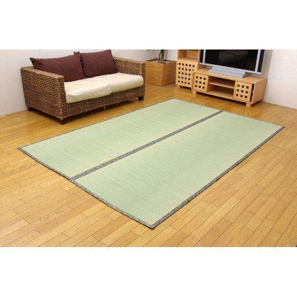 純国産/日本製 糸引織 い草上敷 『湯沢』 六一間4.5畳(約277×277cm) aimshop 02