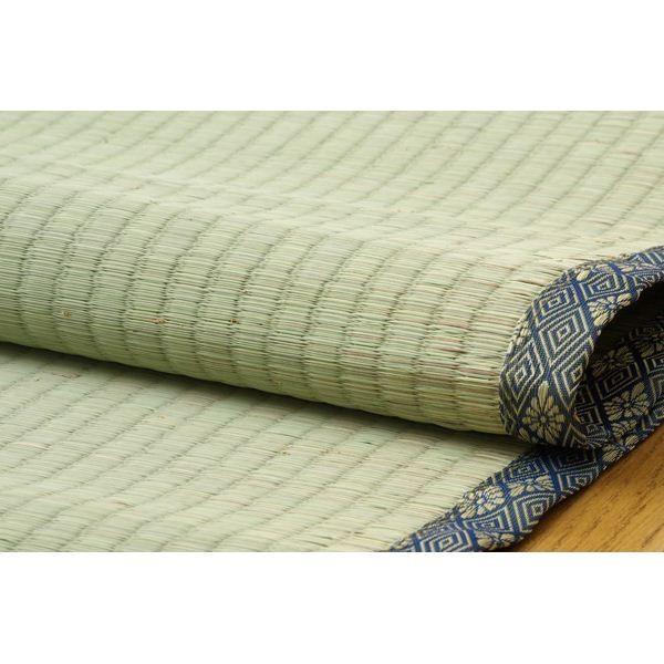 純国産/日本製 糸引織 い草上敷 『湯沢』 六一間4.5畳(約277×277cm) aimshop 04