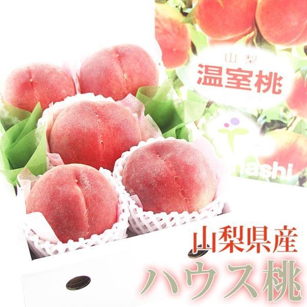 モモ もも フルーツ 果物 くだもの 父の日 母の日【ハウス桃(山梨産)(5〜6玉入) 】|aino-kajitu